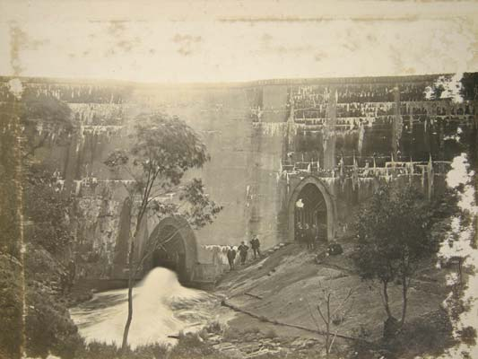 Concrete Dam, Lower Stony Creek, Anakie Gorge, c.1910  (Geelong Heritage Service)