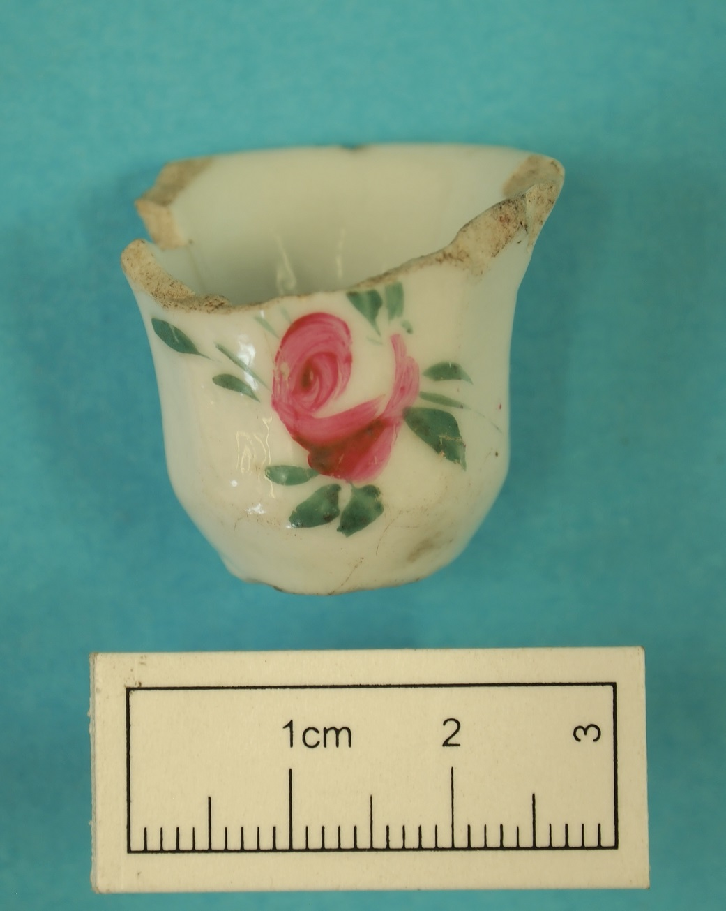 Miniature teacup recovered from the Wesley Church precinct